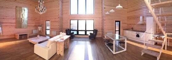 Лофт интерьеры в деревянном доме