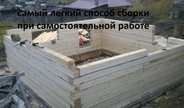 Сруб бани