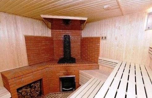 Модная банная печь из кирпича
