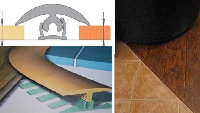 Заделка стыка между ламинатом и плиткой