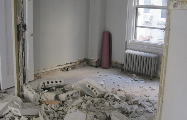 Перечень работ при демонтаже стен